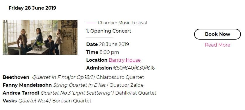 Chamber Music Festival - Booking - West Cork Music