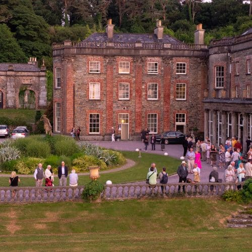 Audience shot outside Bantry House