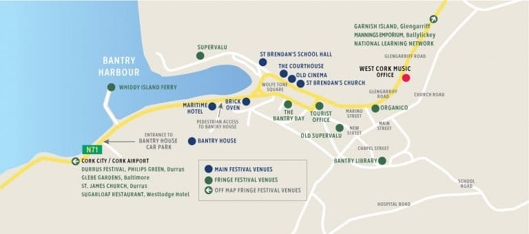 Chamber Music Festival - Venue Map - West Cork Music