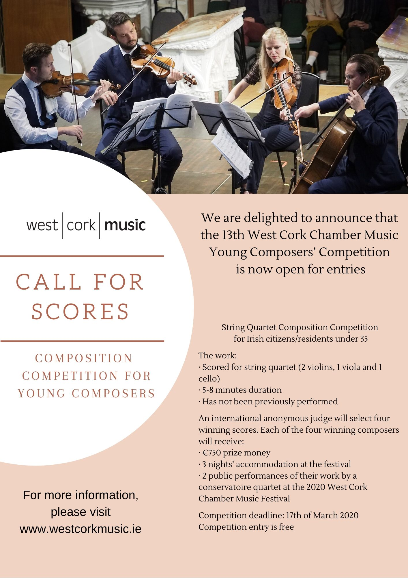 Call for Scores 2020 poster