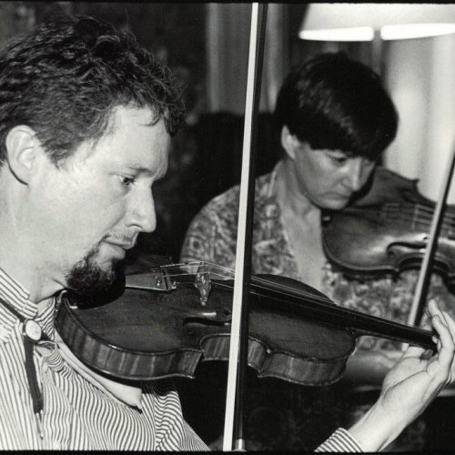 Greg Ellis and Liz Charleson of the Vanbrugh Quartet