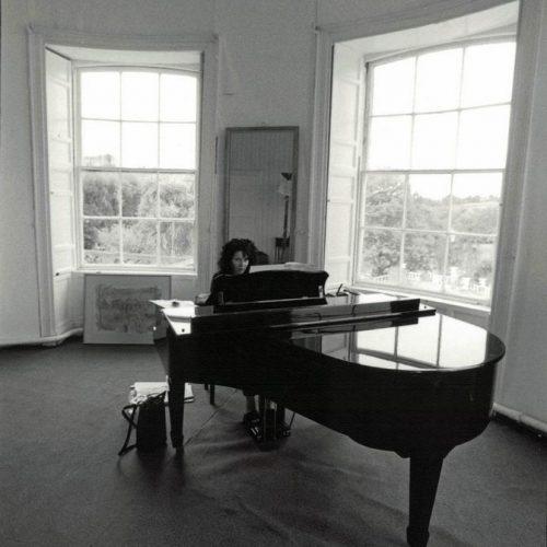 Joanna MacGregor rehearsing Bach