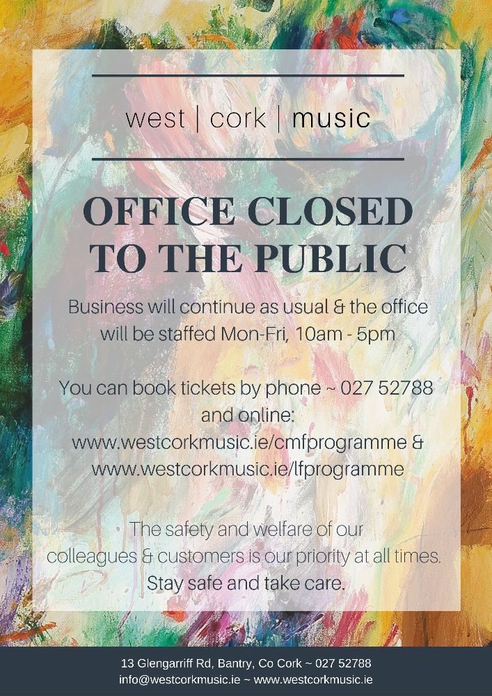 2020 Office hours COVID-19
