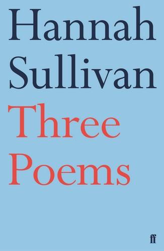 Three Poems cover - Hannah Sullivan