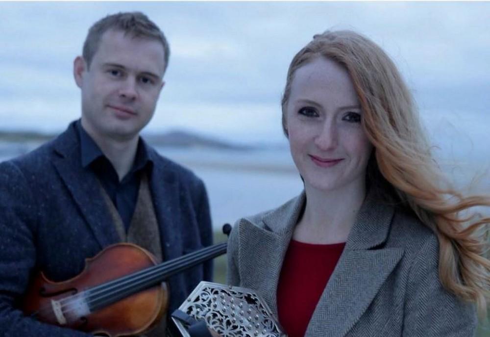 Caitlin nic Gabhann and Ciaran O Maonaigh